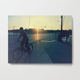 Bicycle Ride at Sunset Metal Print