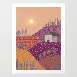 Warm landscape II Art Print