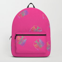Old Fashion Pink Blouses Pattern Backpack
