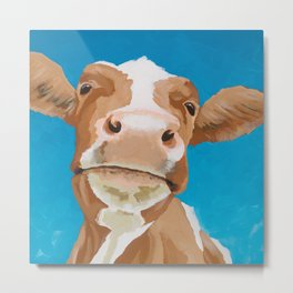 Enid the Contented Cow Metal Print
