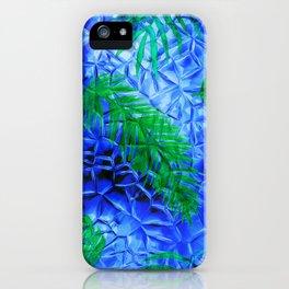 in the blue fern iPhone Case