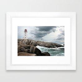 Peggy's Cove Light House -- Nova Scotia Framed Art Print