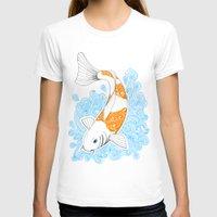 koi fish T-shirts featuring Koi fish  by Art & Be