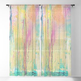 DRIPPING COLORS Sheer Curtain