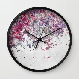 Helsinki Map Wall Clock