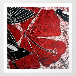 Magpies of Kalighat Art Print