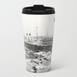 The White Star Line and Godzilla Travel Mug