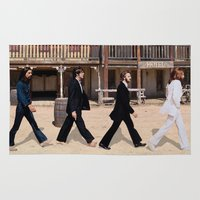 downton abbey Area & Throw Rugs featuring Abbey road by eARTh