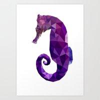sea horse Art Prints featuring Sea horse by Julia Brnv