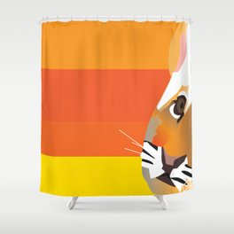 Tiger club Shower Curtain