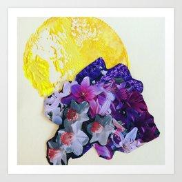 Garden Circle - Bright Yellow Art Print