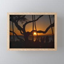 lava lava sunset Framed Mini Art Print