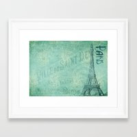 french Framed Art Prints featuring French by EnchantedWhispers