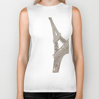 eiffel tower Biker Tanks featuring Eiffel Tower  by Elyse Notarianni