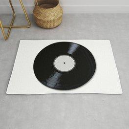 White Record Label Rug