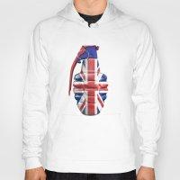 british flag Hoodies featuring British grenade by GrandeDuc