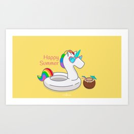 HAPPY SUMMER Art Print