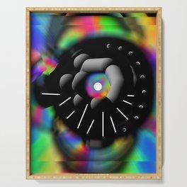 Circle and Rainbow Serving Tray