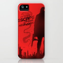 Escape from New York art iPhone Case
