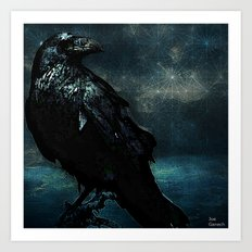 The crow of the lost island Art Print