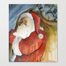 Jolly Saint Nick AKA Santa Canvas Print