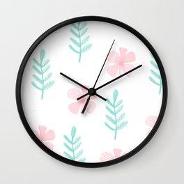 Pattern Flowers 3 Wall Clock