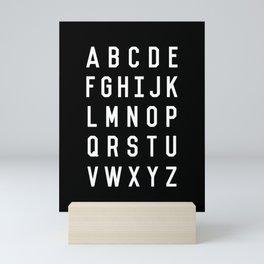 Alphabet Black and White Typography Design Poster with Monochrome Minimalist Letters Wall Decor Mini Art Print