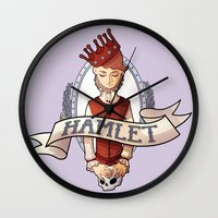 hamlet Wall Clocks featuring Hamlet by Michelle Dadoun