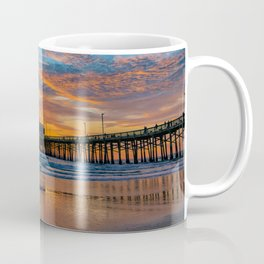 December Skies at Newport Pier Coffee Mug