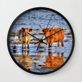 Sarah & Hamish - Highland Cattle Wall Clock