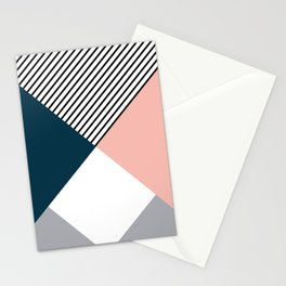 Rhombus, triangles and stripes Stationery Cards