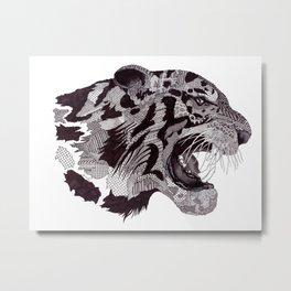 'Wild' Tiger Metal Print