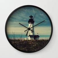 lighthouse Wall Clocks featuring Lighthouse by Yellowstone Photo Studio