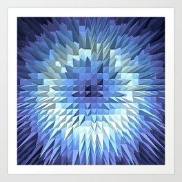 Abstract geometric 3D poligonal texture. Art Print