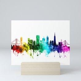 San Francisco California Skyline Mini Art Print