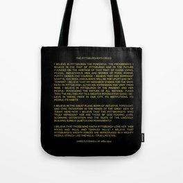 The Pittsburgher's Creed Tote Bag