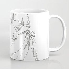 Female Blacksmith at Work Doodle Art Coffee Mug
