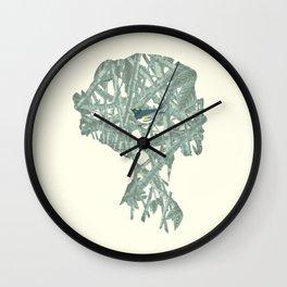 {No title} Gray Bird Wall Clock