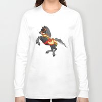 pony Long Sleeve T-shirts featuring Grey Pony by Moonlake Designs