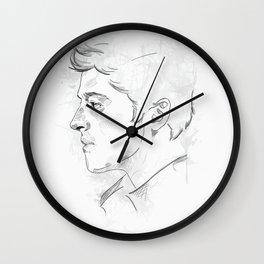 Castiel   Seraph   White Wall Clock