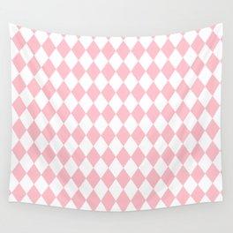 Diamonds (Pink/White) Wall Tapestry