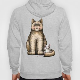 """Peace....now we're friend"" (cat and mouse) Hoody"