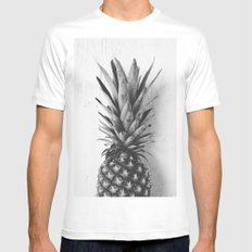 Black and white pineapple Mens Fitted Tee MEDIUM White
