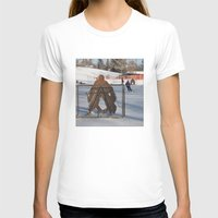 outdoor T-shirts featuring Outdoor hockey rink by RMK Creative