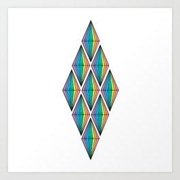 Rainbow Plumbobs Art Print