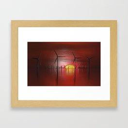 Windmills in the Sun (Digital Art) Framed Art Print