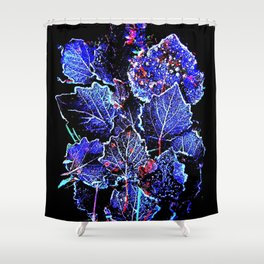 Rime Leaves Abstract Shower Curtain