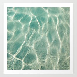 pool abstract III Art Print