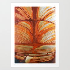 Rusty Abstract Watermarks Art Print