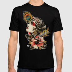 Gipsy girl - tattoo 2X-LARGE Black Mens Fitted Tee